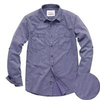 超柔水洗典雅条纹休闲长袖衬衫