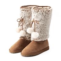 可爱毛绒雪地靴10寸