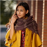 优雅气质格子大方巾