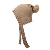 韩风菱形结构护耳毛线帽